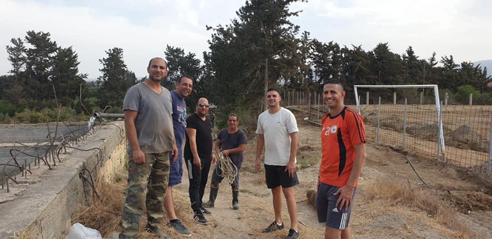 Gaziveren'de çimlendirme çalışmalarına devam