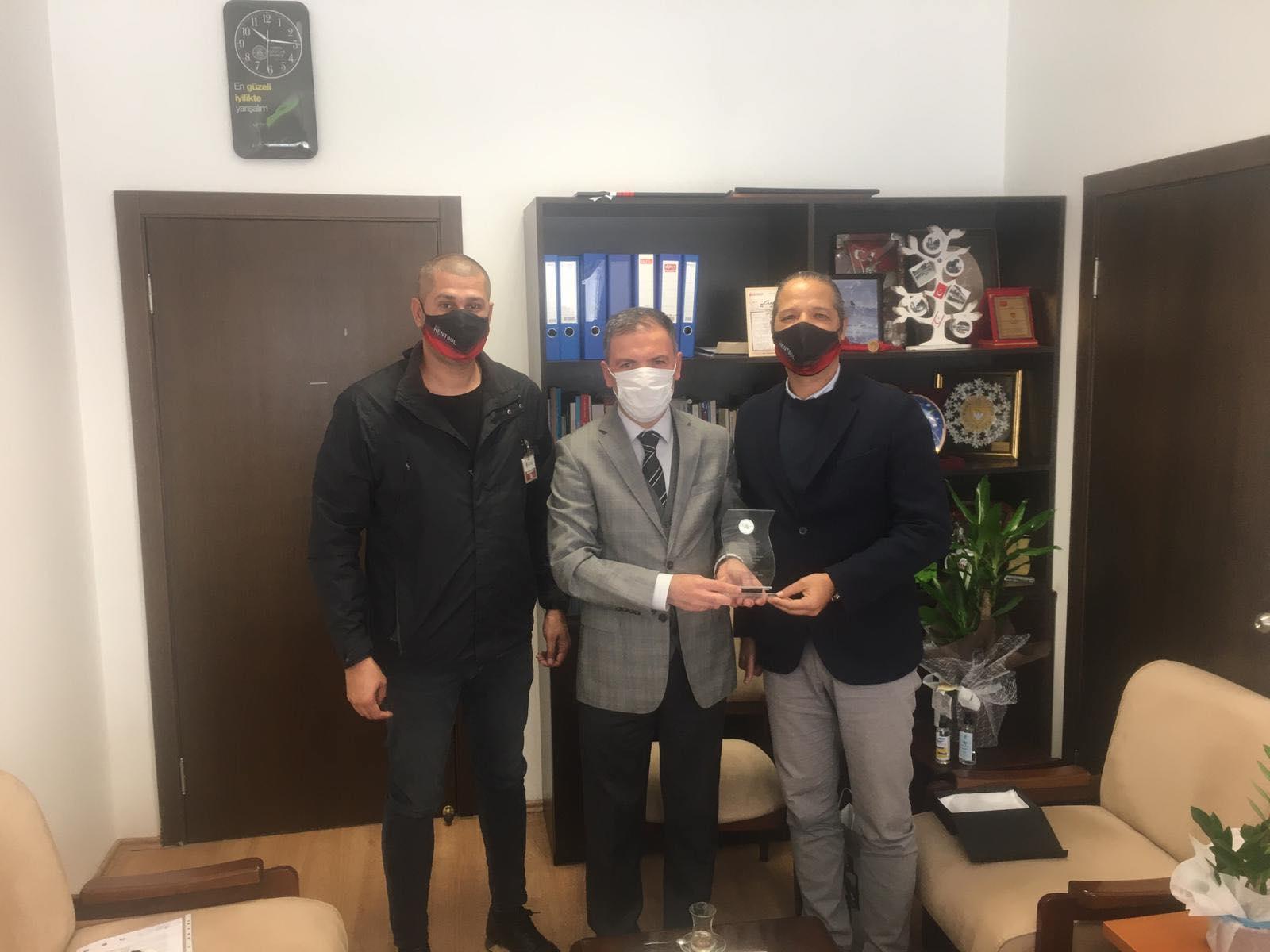 Hentbol Federasyonu'ndan, Mithat Tekçam'a ziyaret