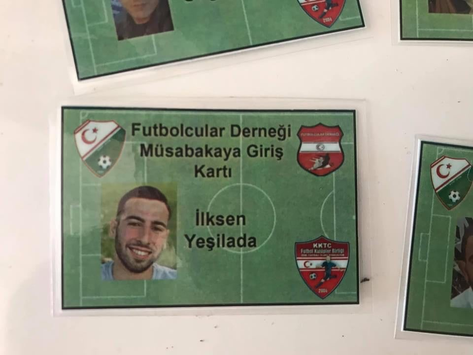 Futbolcuların giriş kartları hazır